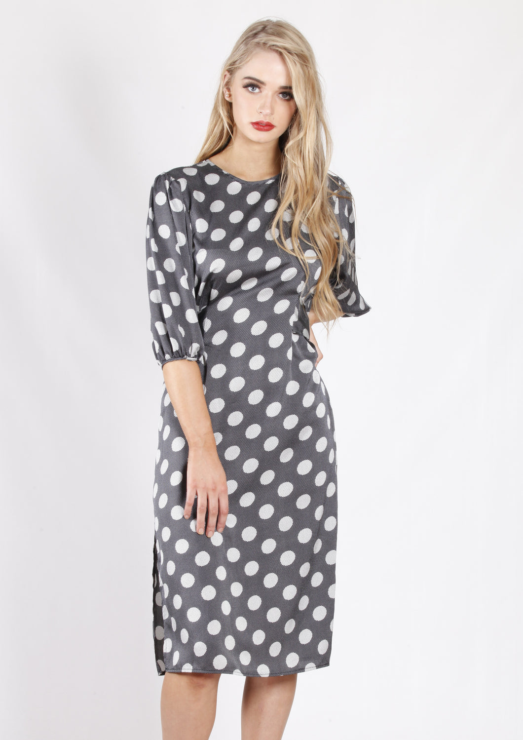 XW16217SS Polka Dot Tie Dress (Pack)