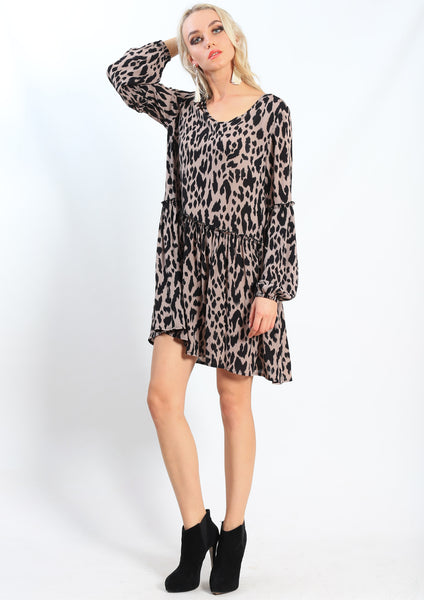 LA0015SS Leopard Print Dress (Pack)
