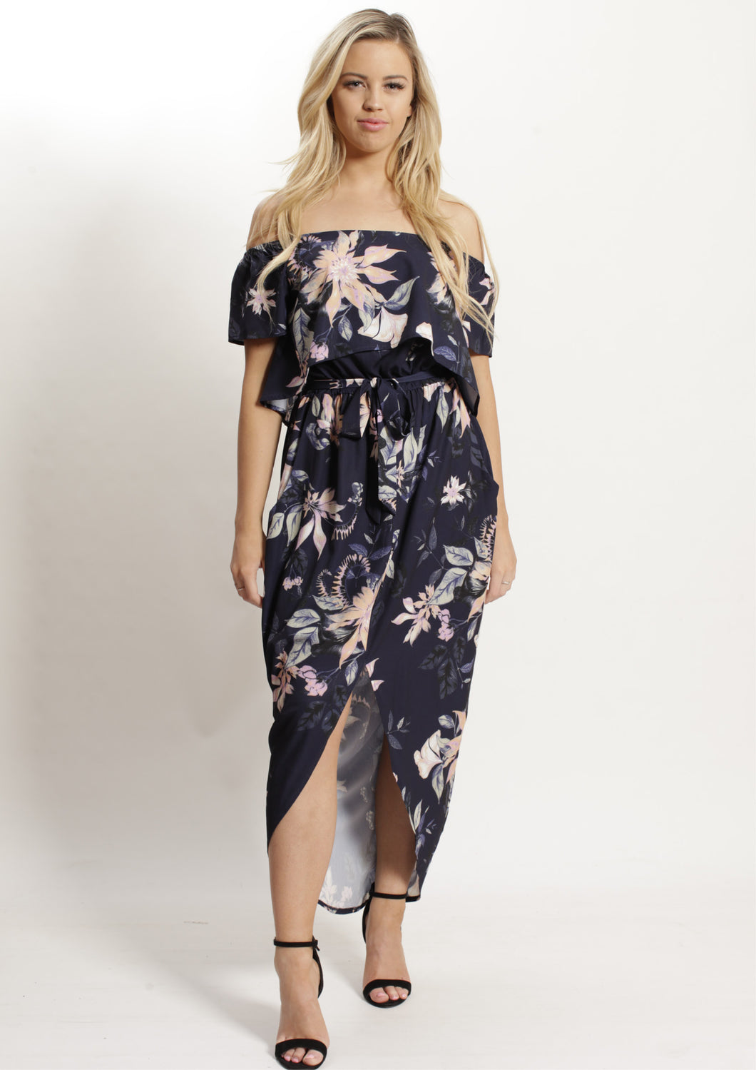 AY064SS Off Shoulder Floral Dress (Pack) New Arrivals
