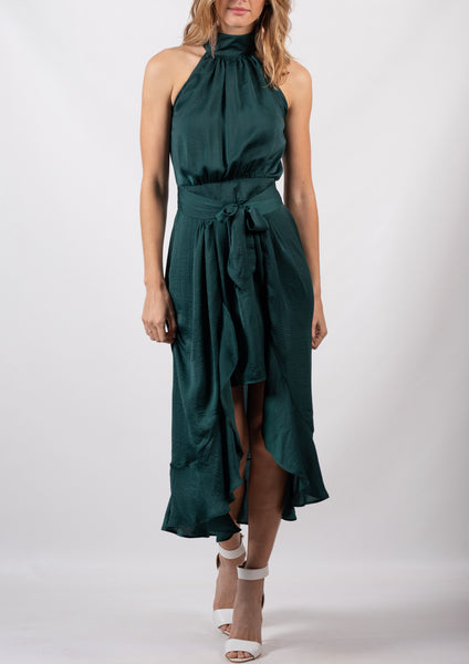 YW22012-1SS Halter Neck Flowy Dress  (Pack) New Arrival