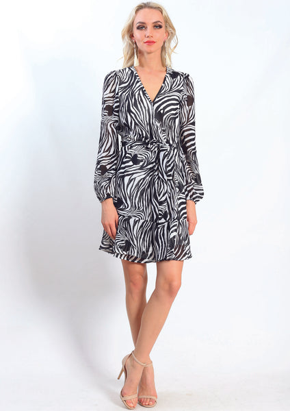 AY235SS Zebra Print Dress (Pack) New Arrivals