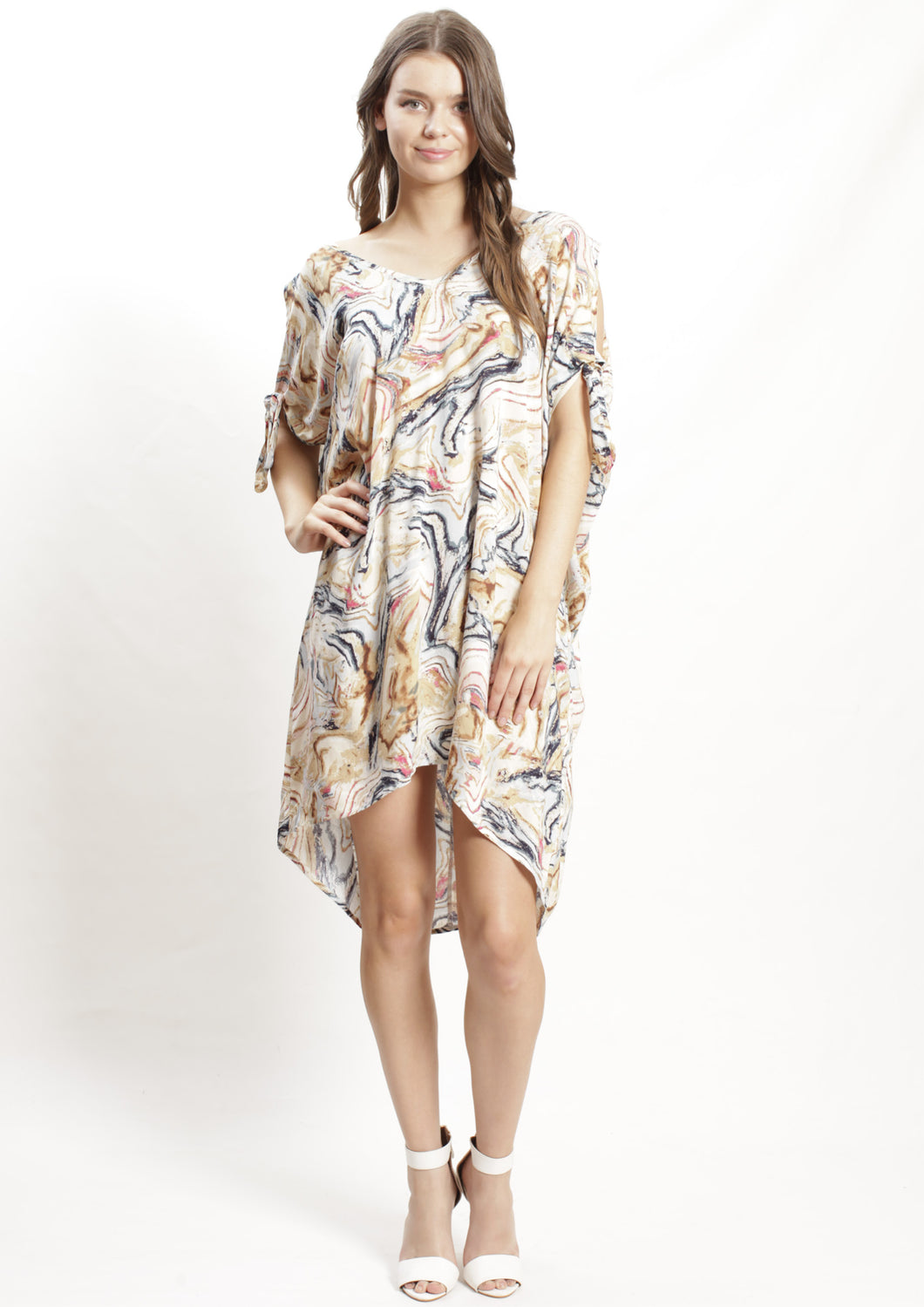WA2176SS Abstract Print Dress (Pack)
