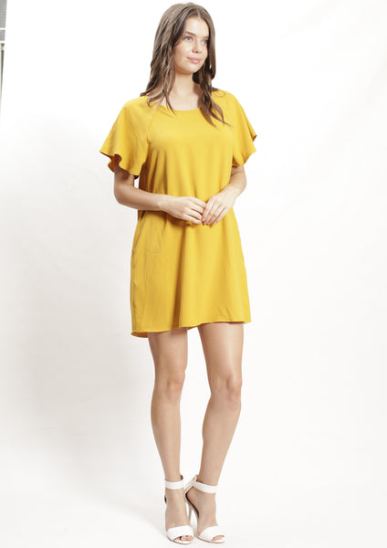 AY150SS Ruffle Sleeve Shift Dress (Pack) New Arrivals