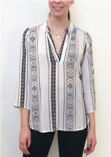 HS13021-160SS Aztec Printed Johnny Collar Top (Pack)