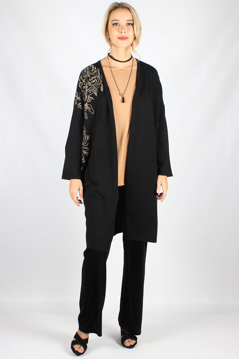 WW0058NC Long Sleeve Cardigan With Side and Shoulder Detailing (Pack)