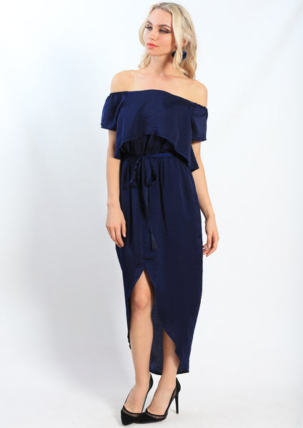 AY064-1SS Off Shoulder Layered Dress (Pack) New Arrivals
