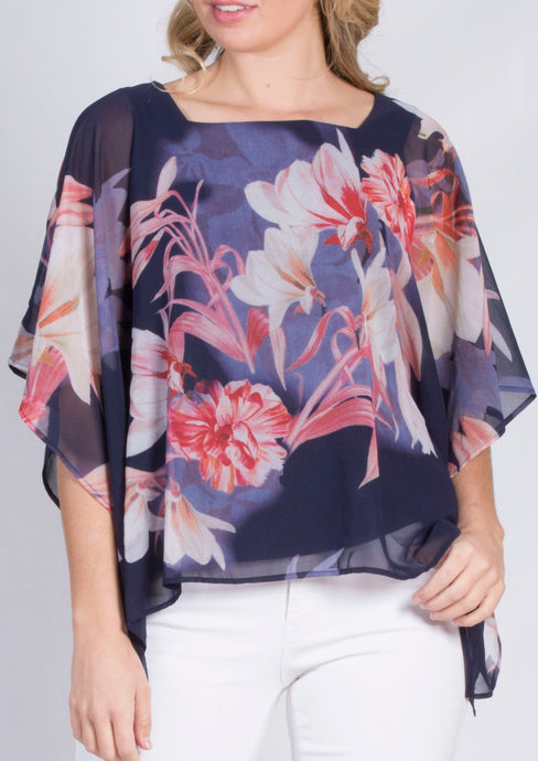 WA2086TB Floral Flowy Top (Pack)