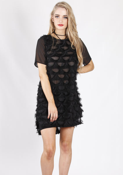 RV0894SS Textured Shift Dress (Pack) New Arrival