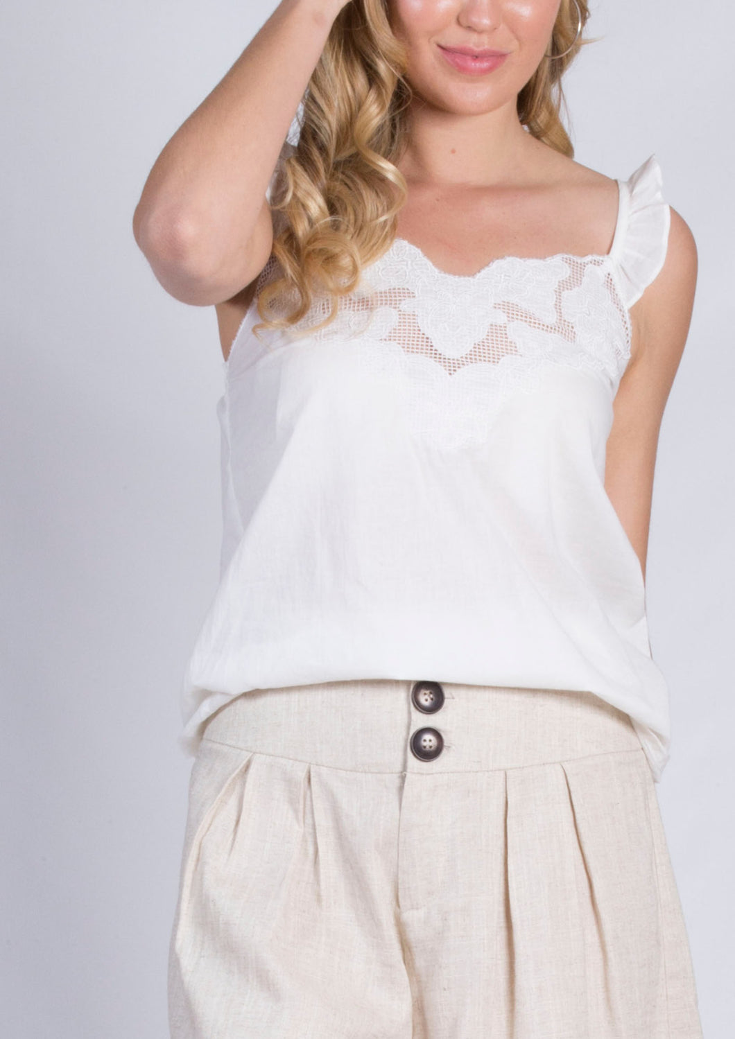 CC1338SS Frill Sleeve Detailed Top (Pack)