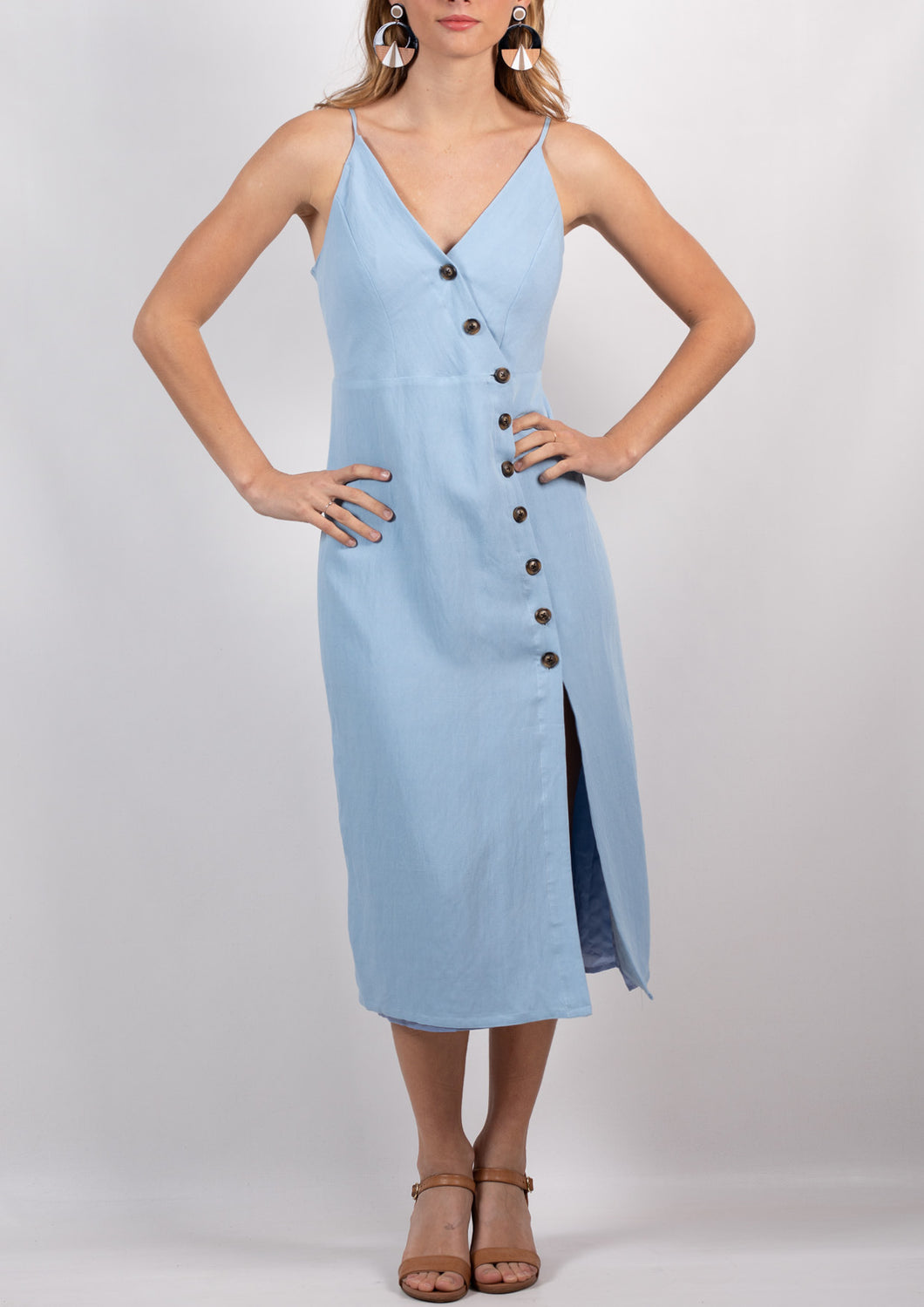 YW2141SS Button Down Midi Dress (Pack)