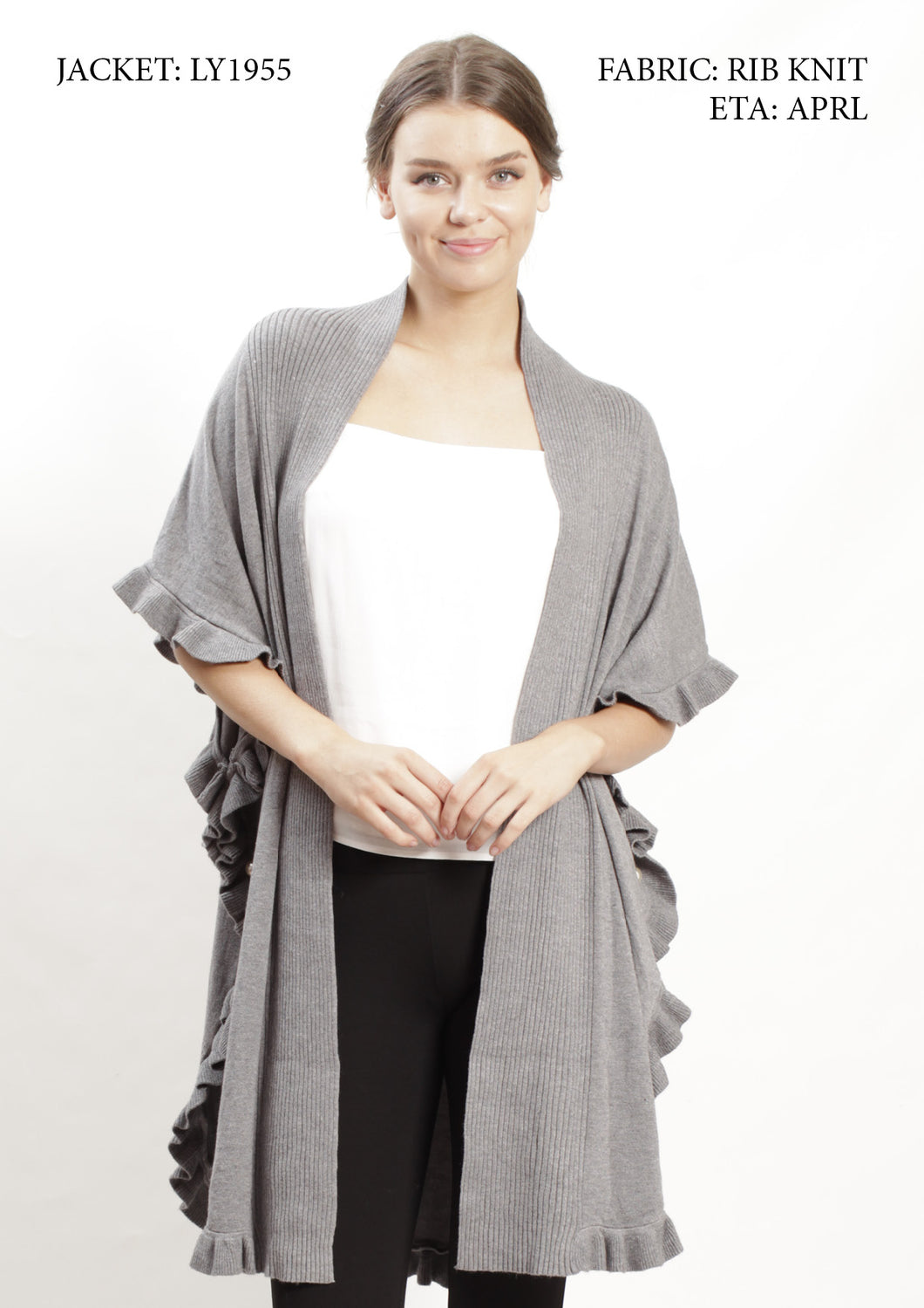 LY1955NC Ruffle Detailed Cardigan (Pack)