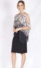 BS1016063-34NC Animal Print Cold Shoulder Chiffon Overlay Dress (Pack)