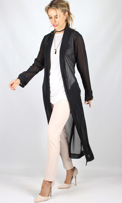 YW1850SS Long Sheer Robe With Belt (Pack) New Arrival