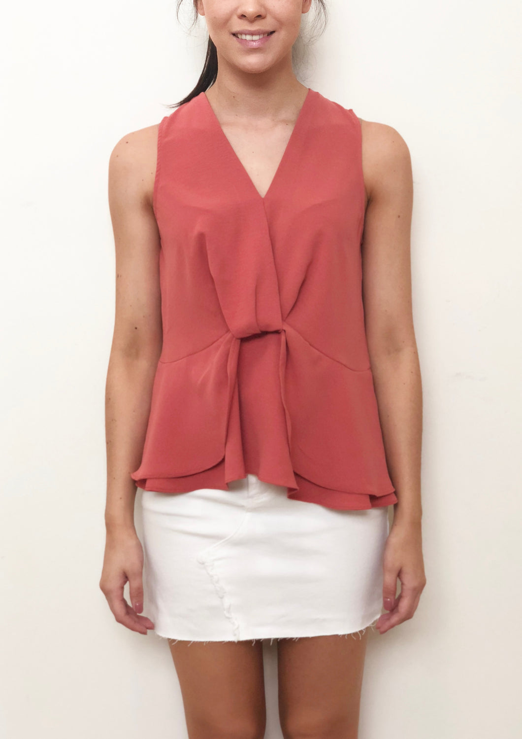 SS022SS V Neck Peplum Layered Top (Pack) On Sale