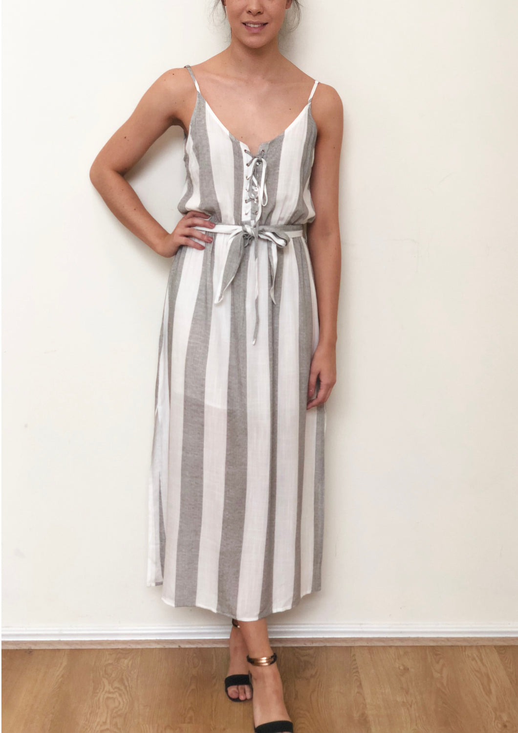 ZW16514SS Striped Tie Up Dress (Pack)