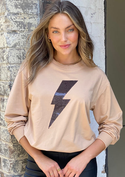 LA0628-5SS Sequin Lightning bolt Jumper (Pack)