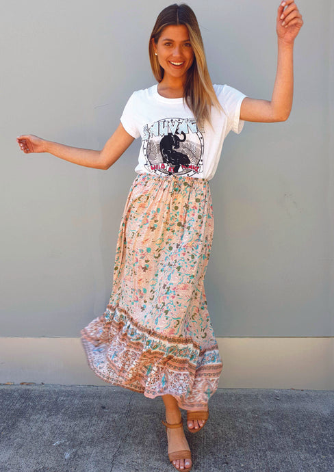 LA0388SS Boho Print Skirt (Pack) New Arrivals