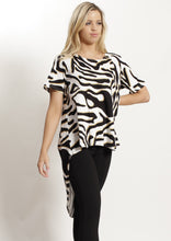 VY0427SS Zebra Print High Low Top (Pack)