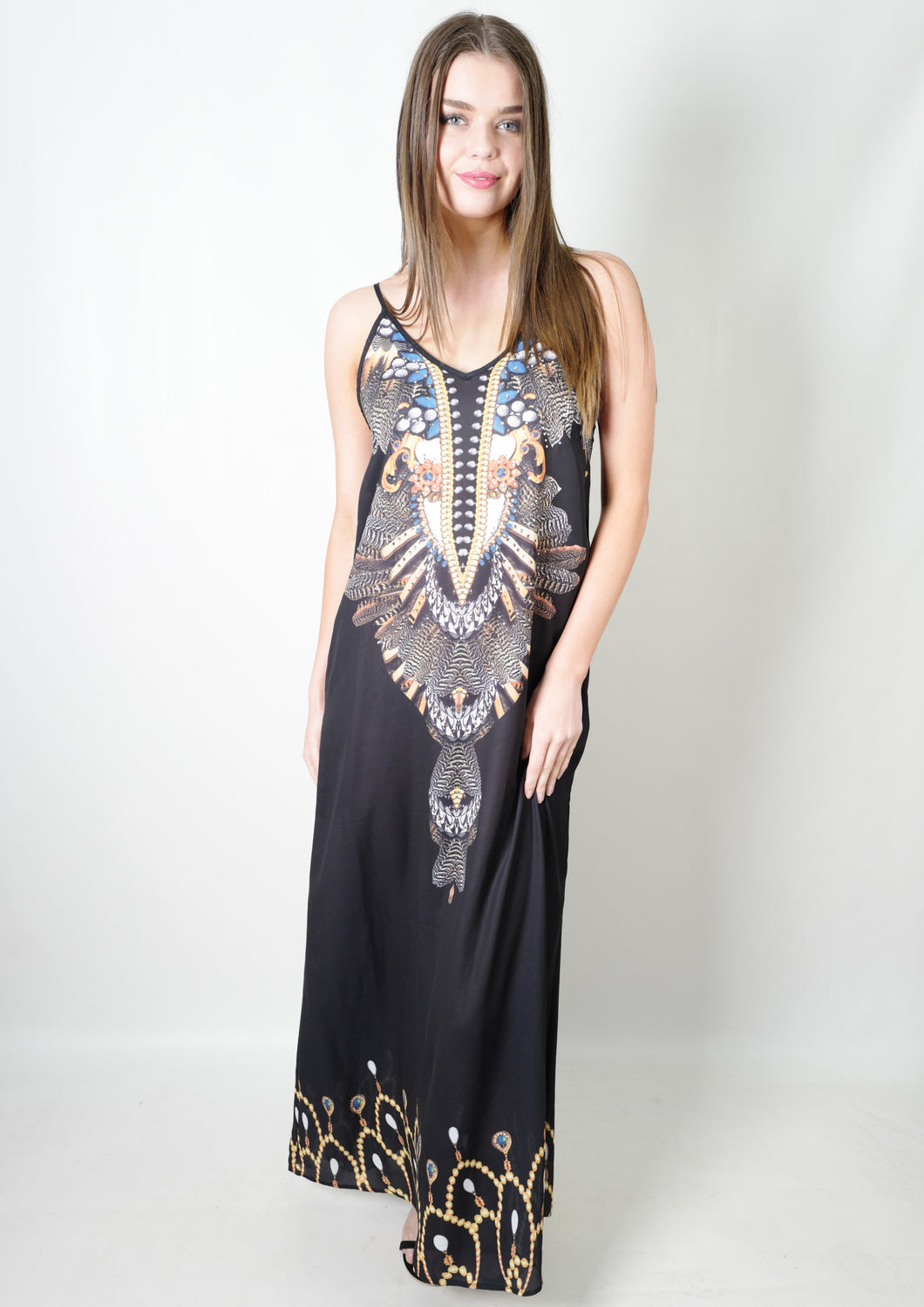XW16110-1SS Jewel Embellished Maxi Dress (Pack)