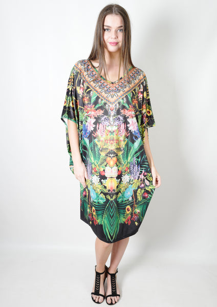 HS6002-19SS Jungle Print Kaftan (Pack) New Arrival