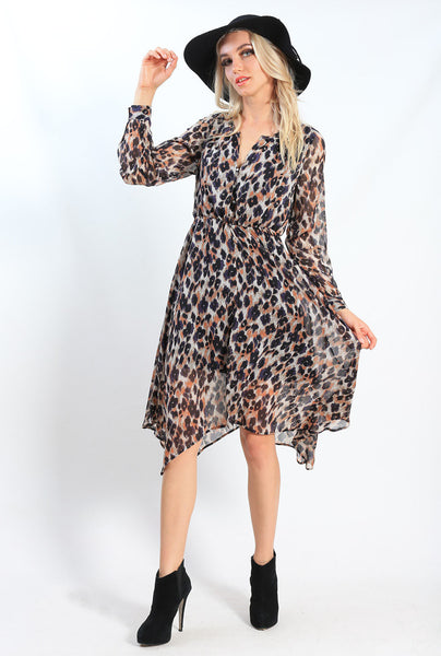 AY095SS Leopard Print Dress (Pack)
