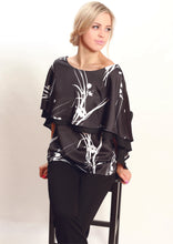 AY130-1NC Floral Vector Layered Top (Pack)