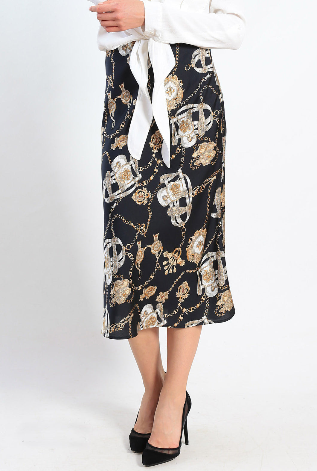 AY179-3SS Chain Print Skirt (Pack) New Arrivals