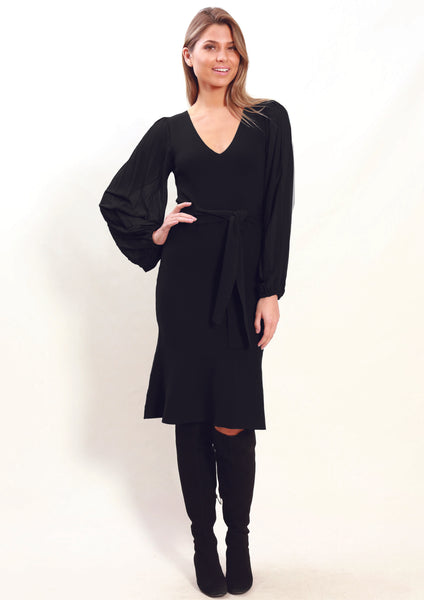 ZW010TB Balloon Sleeve Dress (Pack) New Arrival