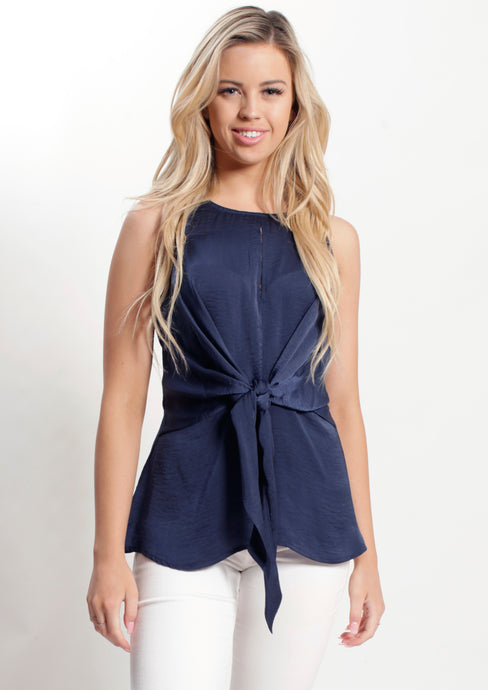 WA2152SS Navy Knot Front Top (Pack) New Arrivals