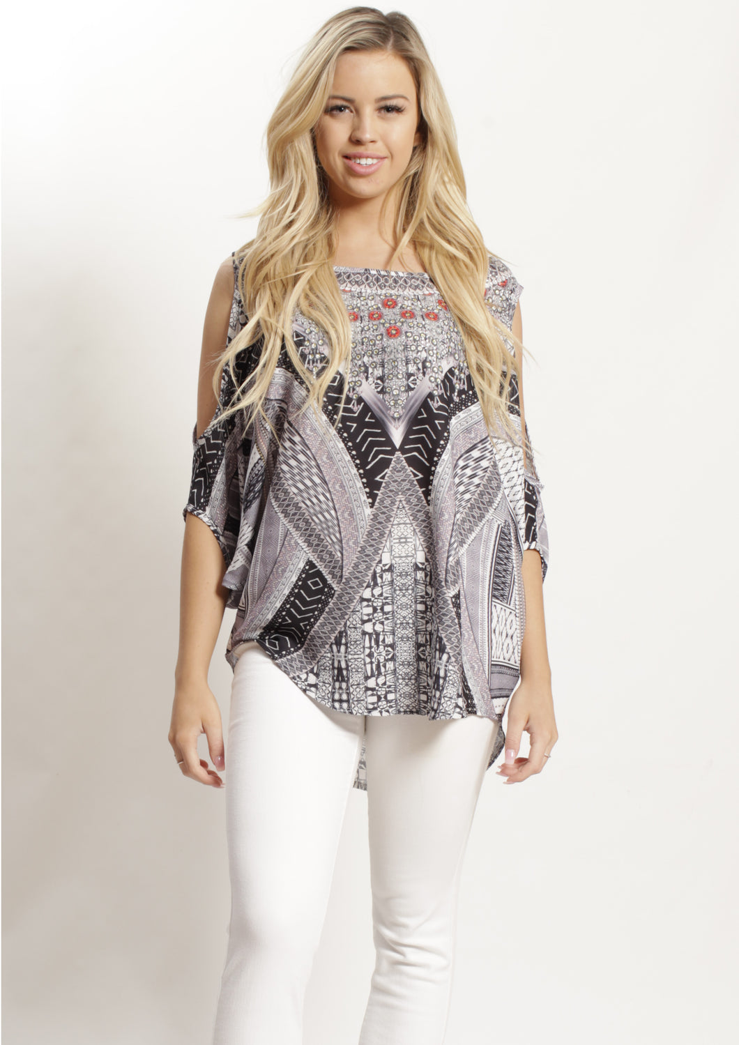 XW12317-84SS Grey Tribal Print (Pack)