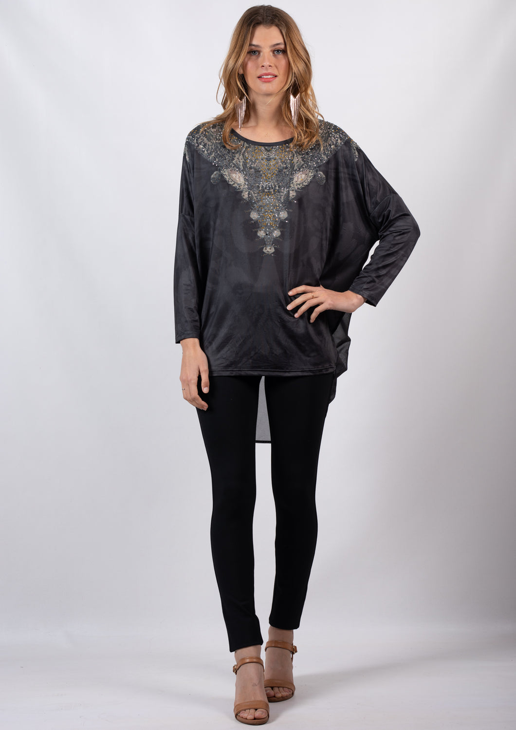 YW00118-2SS Embellished Long Sleeve Top (Pack) New Arrival