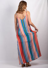 DS18K20418SS Multicoloured Stripe Maxi Dress (Pack)
