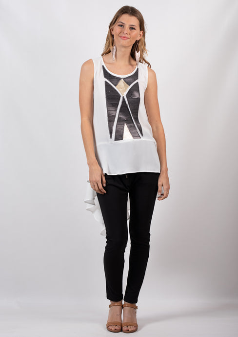 LV240SS Sequin Panelled Tank Top (Pack)
