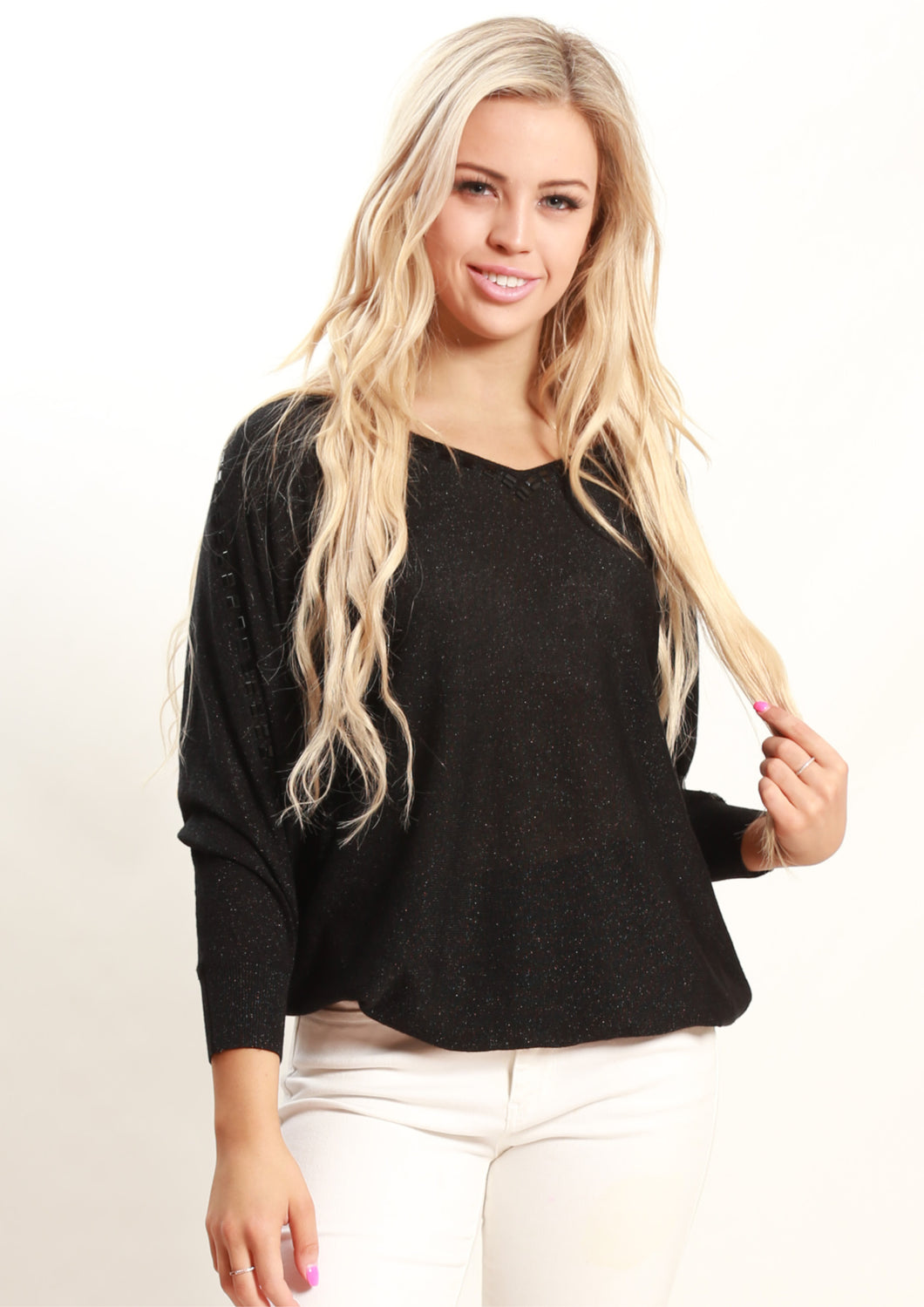 BW20003B Long Sleeve Beaded Top (Pack)