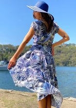 LA0666-2SS Leaf Print Midi Dress (Pack)