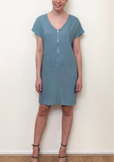 QTB21 Zip Front Shift Dress (Pack)