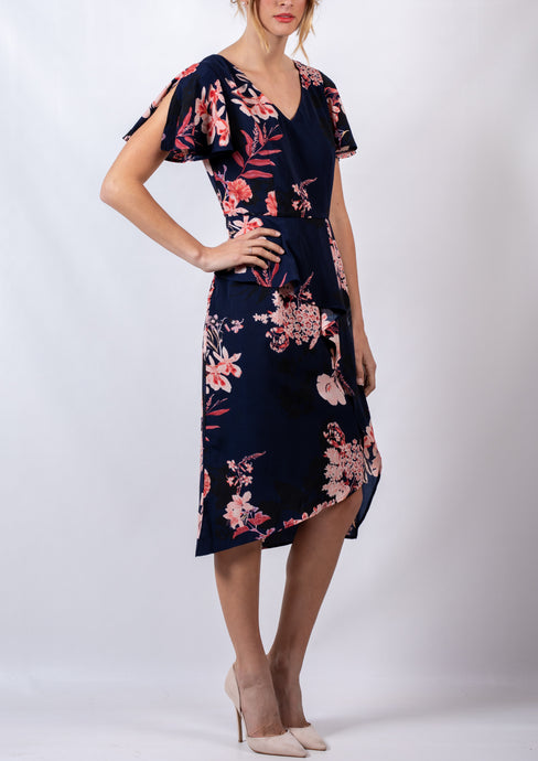 WA0248TB Floral Asymmetric Layered Dress (Pack) NEW ARRIVAL