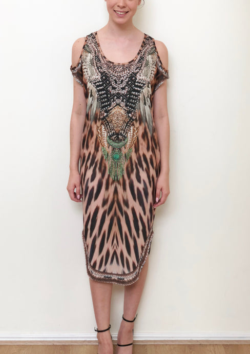 CH1070-55SS Leopard Printed Tunic (Pack) New Arrival