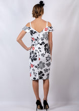 VS7200-7TB Floral Shoulder Cut Out Dress (Pack)