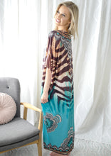 RV1058-3SS Zebra Stripe Maxi Kaftan Dress (Pack) New Arrival