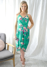 TG2555-1TB Teal Floral Tulip Dress (Pack) New Arrival