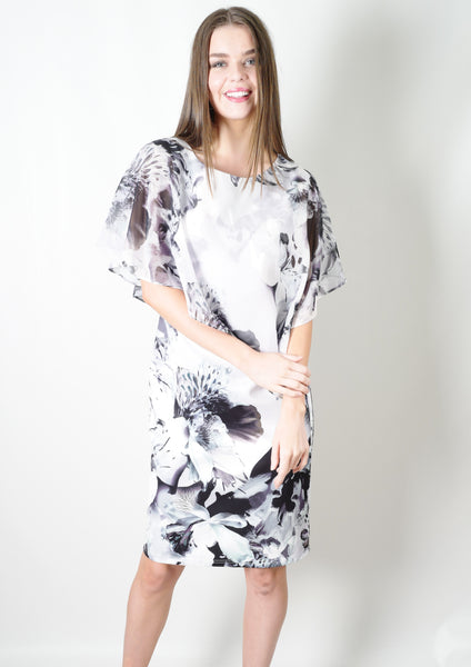 WA2137NC Floral Asymmetric Dress (Pack) New Arrival