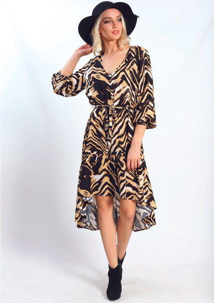 VY00228SS Animal Print Dress (Pack) New Arrivals