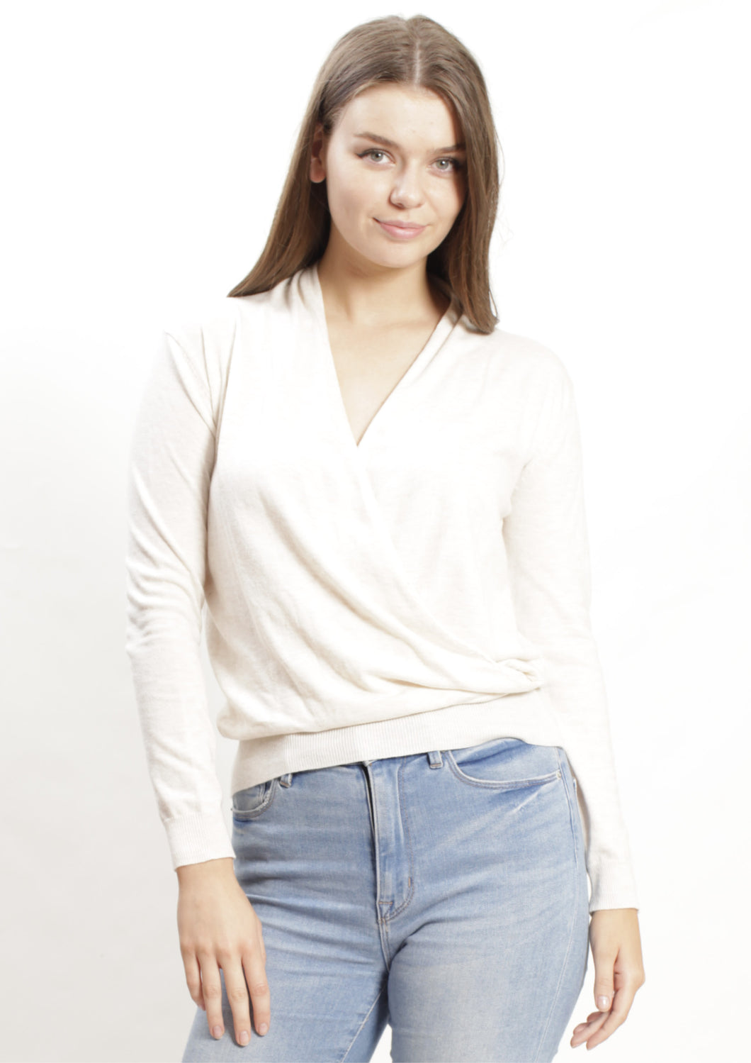 TG2379B Cross Front Knit Top (Pack)