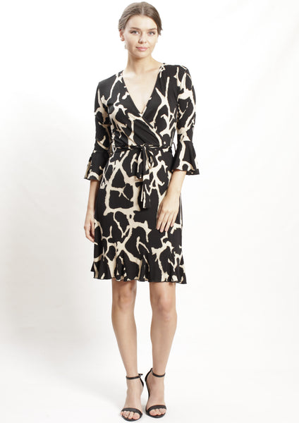 HS0253-19NC Marble Print Dress (Pack) New Arrival