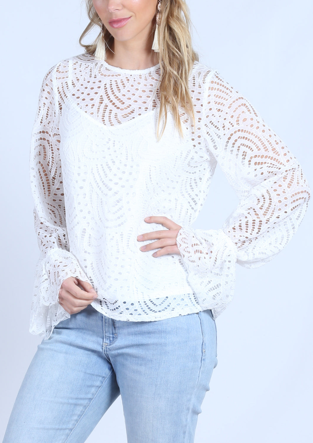 YW2119-1SS Burnout Mesh Top (Pack)