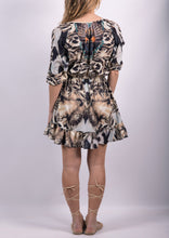 VY0236SS Animal Printed Embellished Dress (Pack)