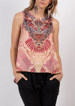 HS12353-14SS Aztec Printed Embellished Top (Pack)