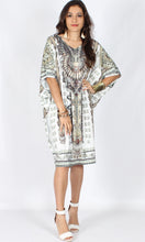 HS6002-9SS White V- Neck Kaftan (Pack)