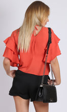 RV0850-1SS Double Ruffle Sleeve Top (Pack)
